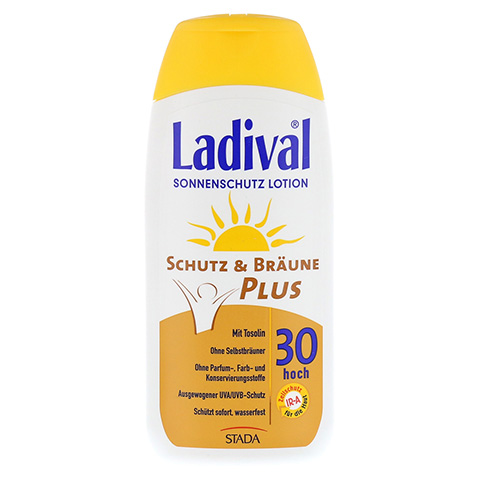 LADIVAL Schutz&Bräune Plus Lotion LSF 30 200 Milliliter