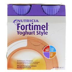 FORTIMEL Yoghurt Style Pfirsich Orangegeschmack 4x200 Milliliter - Vorderseite