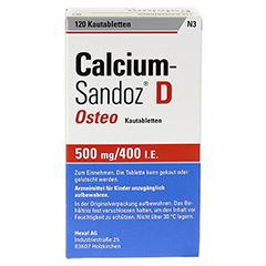 CALCIUM SANDOZ D Osteo Kautabletten + gratis Wirbelsäulengymnastik-Buch Calcium-Sandoz 120 Stück N3 - Rückseite