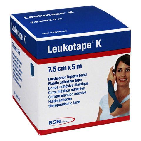 LEUKOTAPE K 7,5 cm blau 1 Stück