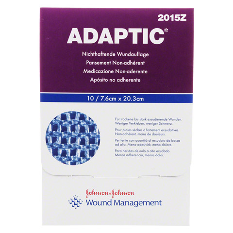 ADAPTIC 7,6x20,3 cm feuchte Wundauflage 10 Stück