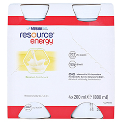 RESOURCE Energy Banane 4x200 Milliliter - Vorderseite
