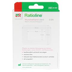 RATIOLINE Wundverband 8x10 cm steril 5 Stück - Rückseite