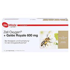 ZELL OXYGEN+Gelee Royale 600 mg Trinkampullen 14x20 Milliliter - Vorderseite