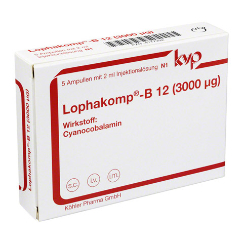 LOPHAKOMP B12 3.000 µg Injektionslösung 5x2 Milliliter N1
