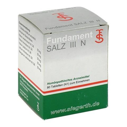 FUNDAMENT Salz III N Tabletten 80 St�ck