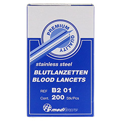 BLUTLANZETTEN steril einzeln 200 Stück - Vorderseite