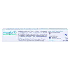 MERIDOL sicherer Atem Zahnpasta 75 Milliliter - Unterseite