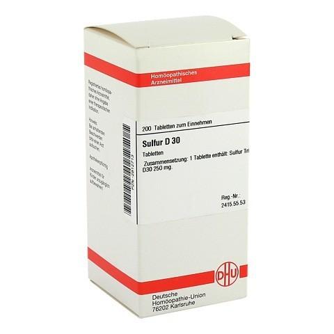 SULFUR D 30 Tabletten 200 St�ck