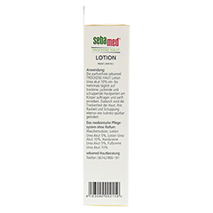 SEBAMED Trockene Haut parf�mfrei Lotion Urea 10% + gratis SEBAMED Intim Waschgel pH 3,8 f�r die junge Frau 200 Milliliter - Rechte Seite