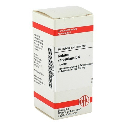 NATRIUM CARBONICUM D 6 Tabletten 80 St�ck N1