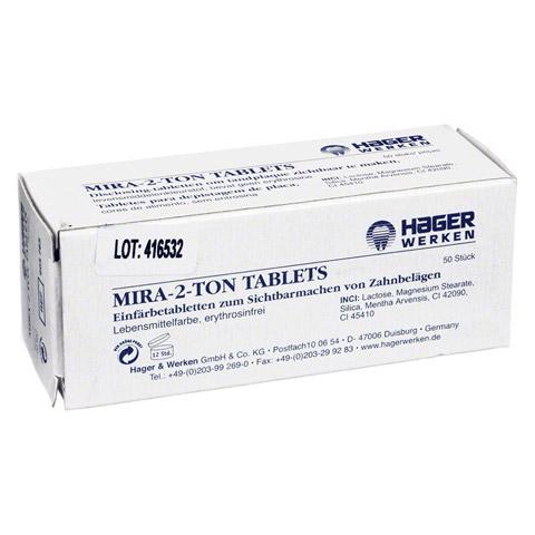 MIRA 2 Ton Plaque Einf�rbe Tabletten 50 St�ck
