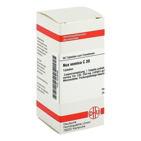 NUX VOMICA C 30 Tabletten 80 St�ck