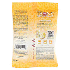 IBONS Orange Ingwerkaubonbons Orig.Btl.m.Euroloch 92 Gramm - Rückseite