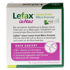 LEFAX intens Lemon Fresh Mikro Granul.250 mg Sim. 20 Stück - Rückseite