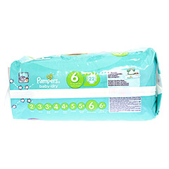 PAMPERS Baby Dry Gr.6 extra large 15+kg Sparpack 22 Stück - Unterseite