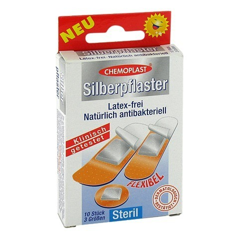 SILBERPFLASTER 3 Gr��en steril 10 St�ck