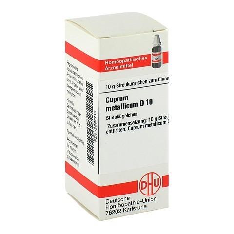 CUPRUM METALLICUM D 10 Globuli 10 Gramm N1