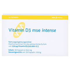 VITAMIN D3 MSE intense Kapseln 30 Stück - Vorderseite