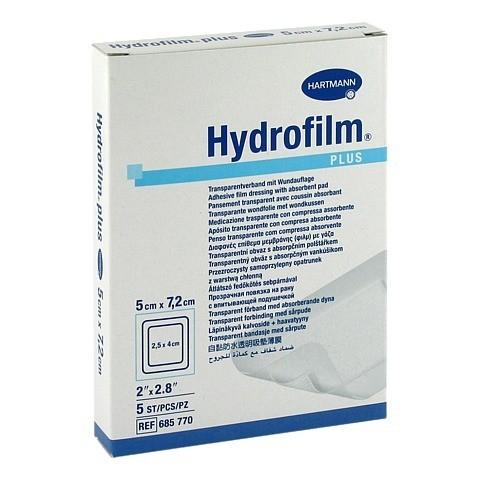 HYDROFILM Plus Transparentverband 5x7,2 cm 5 Stück