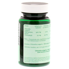 CHLORELLA 100% Tabletten 120 Stück - Rückseite