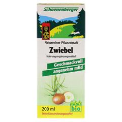 ZWIEBELSAFT naturrein Schoenenberger 200 Milliliter - Vorderseite