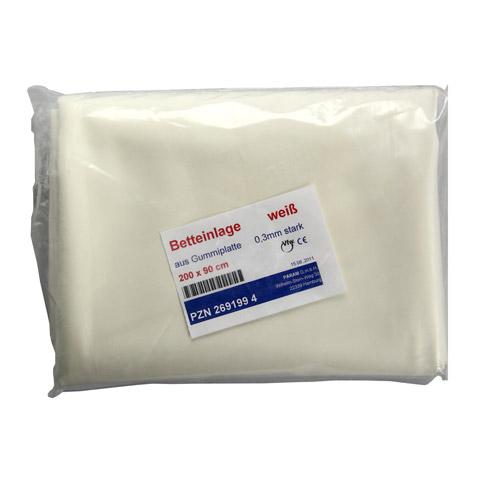 BETTEINLAGE Gummiplatte 0,3 mm 90x200 cm weiß 1 Stück