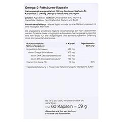 OMEGA 3 Fettsäuren 500 mg/60% Kapseln 60 Stück - Rückseite