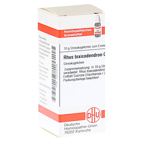RHUS TOXICODENDRON C 4 Globuli 10 Gramm N1
