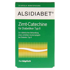 Alsidiabet Zimt Catechine f.Diab.Typ II Kapseln 30 Stück - Vorderseite