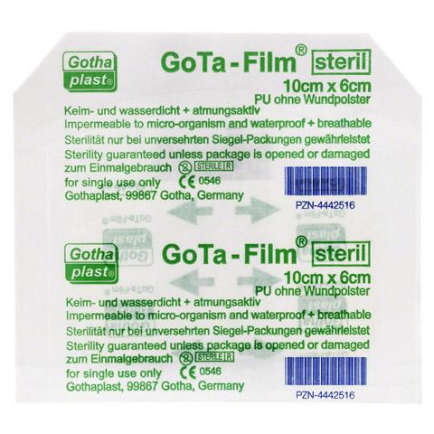 GOTA FILM steril 10x6cm Pflaster 1 St�ck
