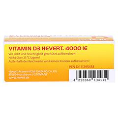 VITAMIN D3 Hevert 4.000 I.E. Tabletten 60 Stück - Unterseite