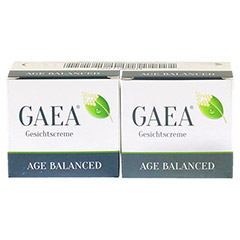 GAEA Age Balanced+Gratis GAEA Gesichtscreme 2x50 Milliliter - Vorderseite