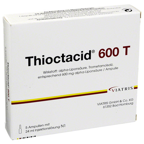 THIOCTACID 600 T Injektionslösung 5x24 Milliliter N1