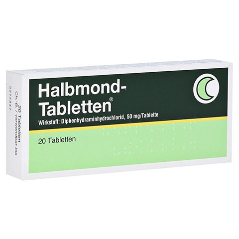 Halbmond-Tabletten 50mg 20 Stück N2