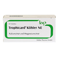TROPHICARD K�hler NE Tabletten 50 St�ck - Vorderseite