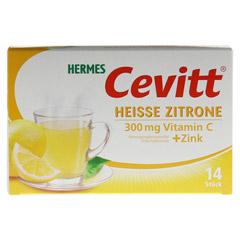 HERMES Cevitt heiße Zitrone Granulat 14 Stück - Vorderseite