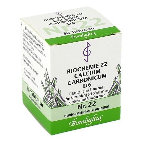 BIOCHEMIE 22 Calcium carbonicum D 6 Tabletten 80 Stück N1