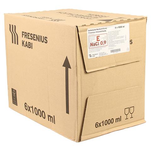 ISOTONISCHE Kochsalzl�sung 0,9% Glasfl.Fresenius 6x1000 Milliliter N2