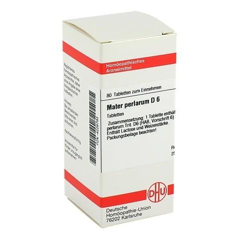 MATER perlarum D 6 Tabletten 80 St�ck N1