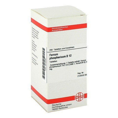 FERRUM PHOSPHORICUM D 12 Tabletten 200 St�ck N2