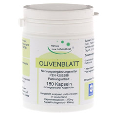 OLIVENBLATT Extrakt Vegi Kapseln 180 Stück