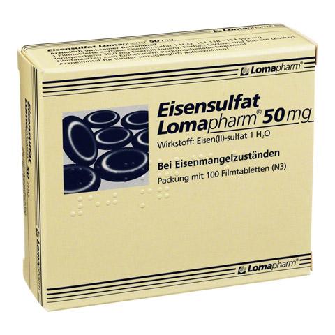 Eisensulfat Lomapharm 50mg 100 Stück N3