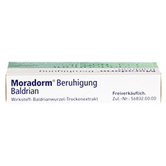 Moradorm Beruhigung Baldrian 20 Stück - Oberseite