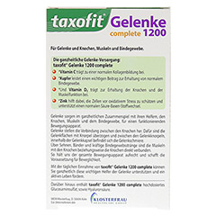 TAXOFIT Gelenke 1200 complete Tabletten 40 Stück - Rückseite