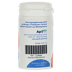 LACHSÖL Omega-3 plus Vitamin E Kapseln MediFit 90 Stück - Linke Seite
