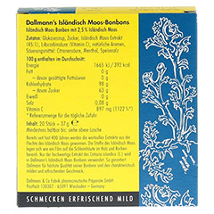 DALLMANN'S Isländisch Moos-Bonbons 20 Stück - Rückseite