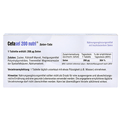 CEFASEL 200 nutri Selen-Tabs 60 Stück - Rückseite