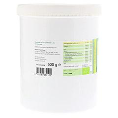 GERSTENGRAS Bio Pulver 500 Gramm - R�ckseite