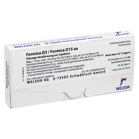 FORMICA D 3 / FORMICA D 15 aa Ampullen 8x1 Milliliter N1